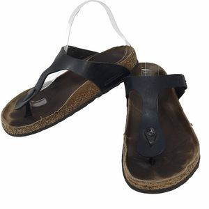 Birkenstock Gizeh Black Cork Thong Sandals Unisex